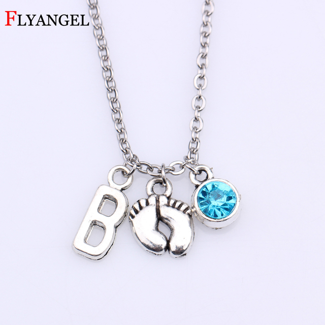 Cute Baby First Step Footprint Mom Son Daughter Birthday Gift Charm Children Women Pendant Necklace Fashion