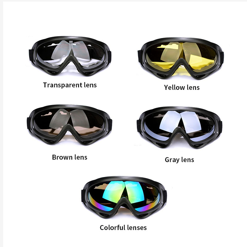 Adults Adjustable MTB Mountain Bike Bicycle Skiing Goggles Glasses Outdoor Sports Workplace Eye Protect Safety Accessories