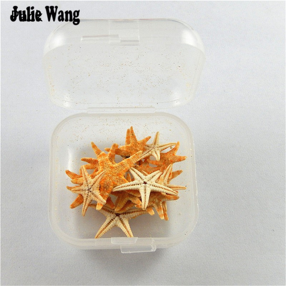 Julie Wang 20Pcs/lot Natural Tiny Organic Starfish Sea Ocean Star Shells Crafts Ornament Nautical Decor Beach Wedding 5mm-15mm starfish fishing net wood grain nautical shower curtain page 6