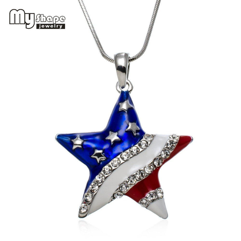 jewelry american collier steel extend product stainless usa men jewellery fashion necklace chain pendant mens flag lot necklaces