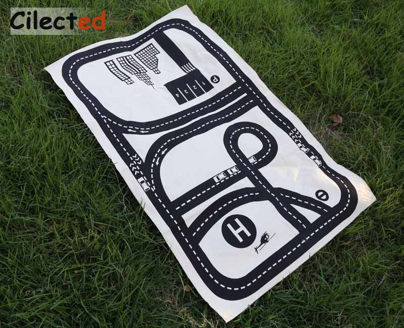 Cilected Train Track Rectangle Crawling Carpet For Living Room Kids Baby  Playing Developing Floor Mats Adventure Game Pad Rugs