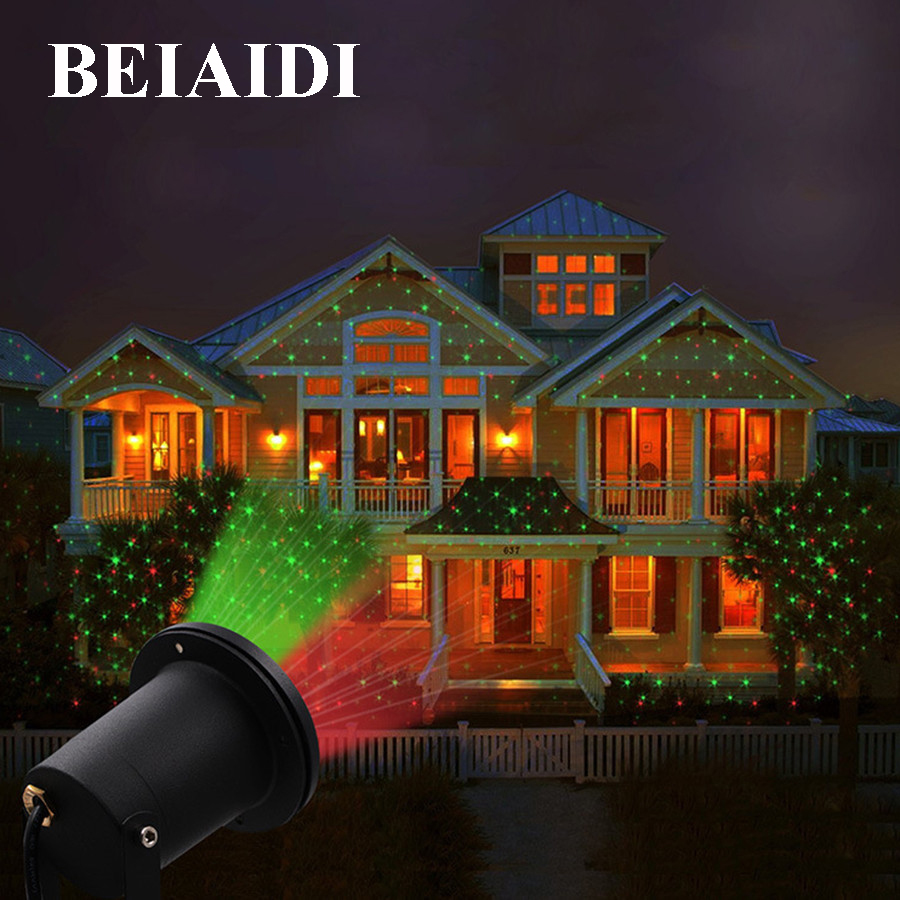 BEIAID IP65 Outdoor Laser Landscape Light Projection Moving Star Christmas Laser Projector Garden Party Disco DJ LED Stage Light недорого