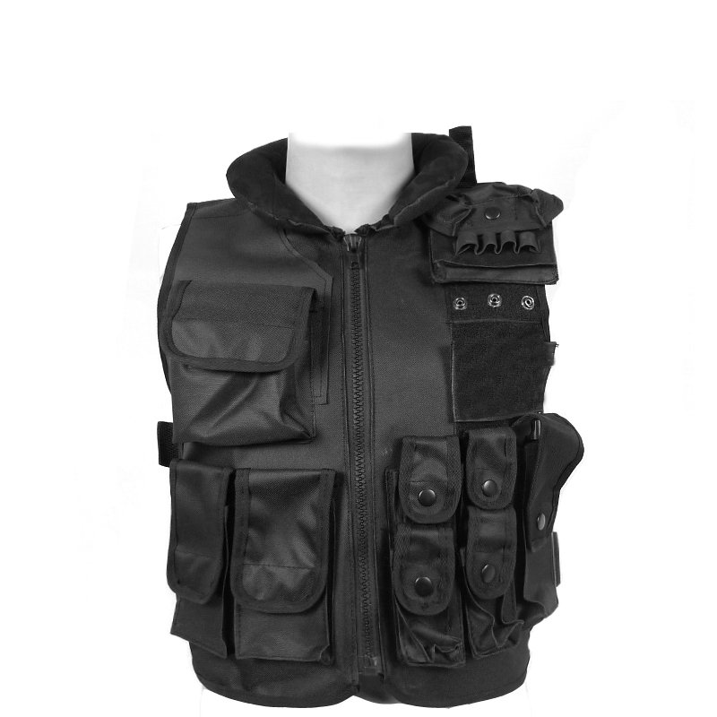 Black protective vest tactical vest outdoor games Security / Security field more versatile accessory kit accessories bag quick tug tactical vest accessory box page 4
