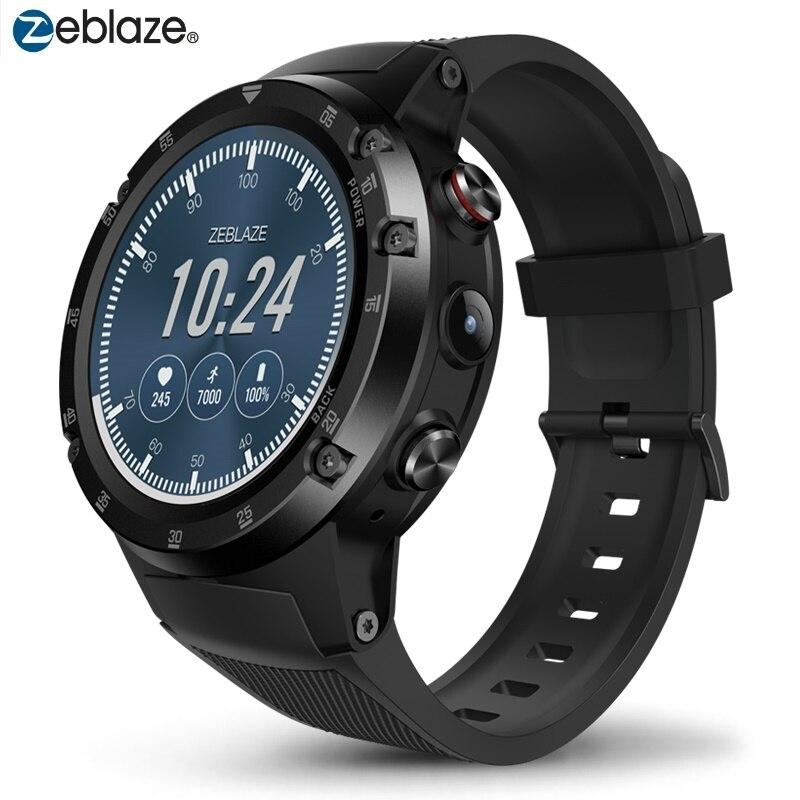 Astuto di GPS Della Vigilanza 4G Wifi Smartwatch Zeblaze THOR 4 Plus. Android 7.1.1 5MP Macchina Fotografica 1 GB + 16 GB orologi da polso Uomo Donna MTK6739 580 mAh