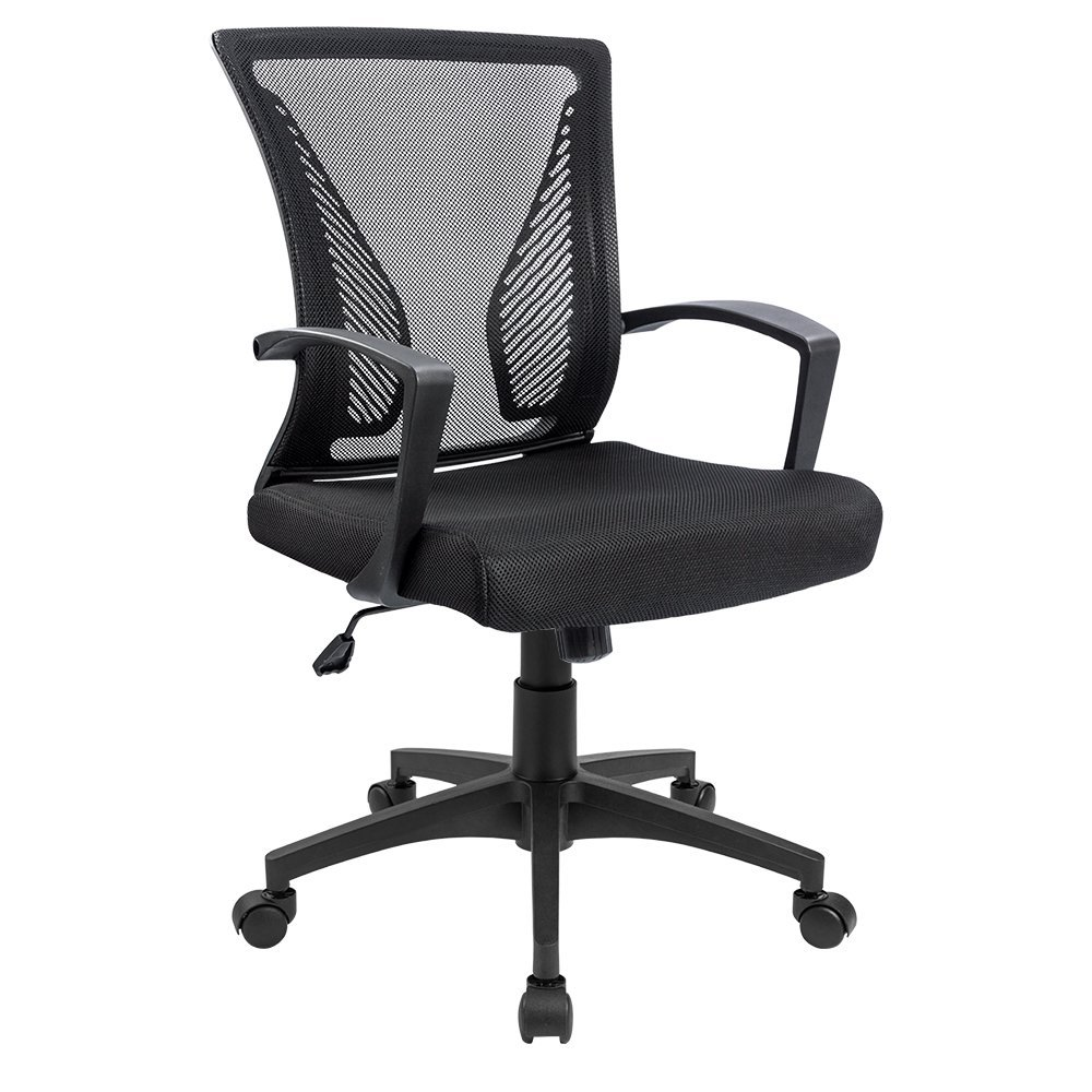 homall Office Chair Mid Back Mesh Chair With comfortable Armrest Executive Swivel lifting Computer Desk Chair T-OCNC75 homdox offical chair adjustable high mesh executive office computer desk ergonomic chair lift swivel chair n25a