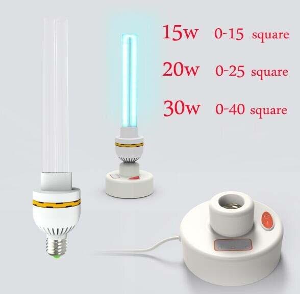 220 V UVC ультрафиолетовая бактерицидная лампа E27 бытовой стерилизации лампы уфл дезинфицирование светильники 15 Вт 20 Вт 30 Вт высокое содержани...
