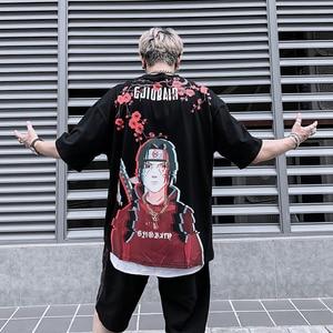 Мужская футболка с коротким рукавом Naruto, Повседневная футболка в стиле хип-хоп