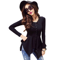 Blusas Y Camisas Mujer Ruffles Womens Shirts Women Tops And Blouses 2016 New Fashion Woman Clothes