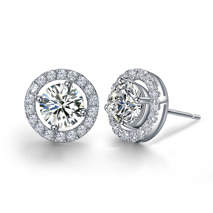 Best Quality 925 Sterling Silver 4 Carats Nscd Lab Diamond Stud Wedding Earrings Engagement Jewellry In From Jewelry