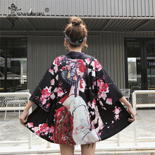 Harajuku Cardigan Japanese Digital Print Shirt Tops Kimono SF
