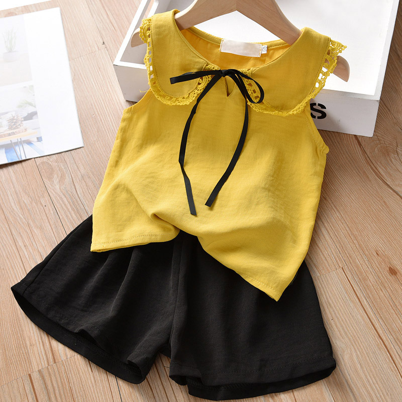 HTB18LK2elCw3KVjSZR0q6zcUpXah Melario Kids Girls Clothing Sets Summer Baby Girls Clothes T-Shirt and Jeans Shorts Suit 2Pcs Children Clothes Suits