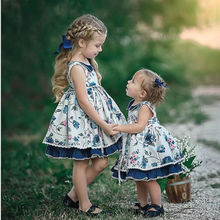6M-5Y Kids Baby Girl Flower Dress Sleevless Ruffles Party Wedding Birthday Dress For Girls Baby Girls Clothing DNOV