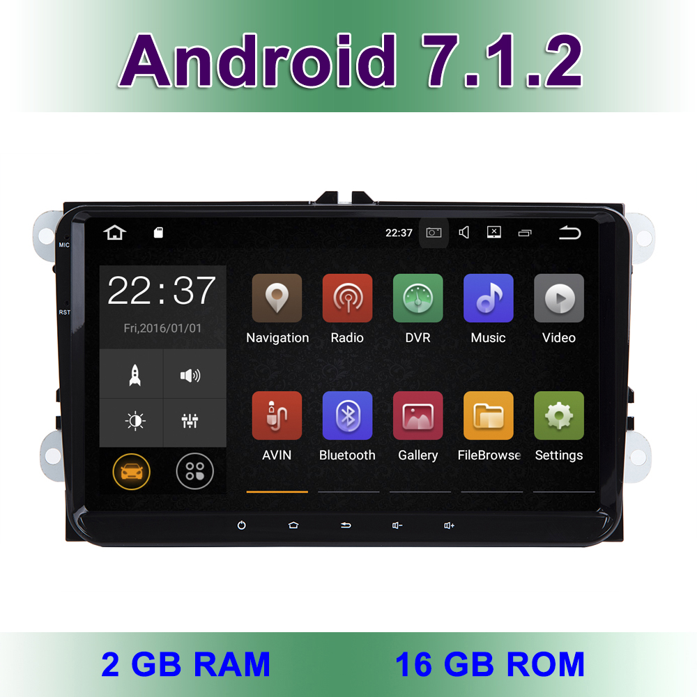 9 Android 7 1 Car DVD font b Radio b font Stereo GPS for VW Passat