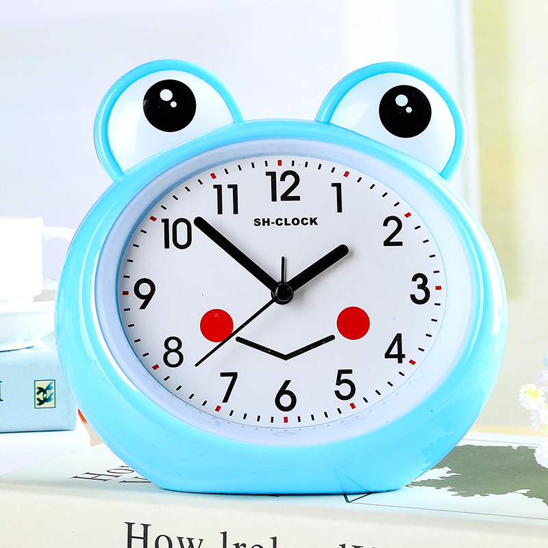 alarm clock creative alarm clock lovely Frog bedside bedroom children's Mini personal alarm clock multi-function alarm clocks