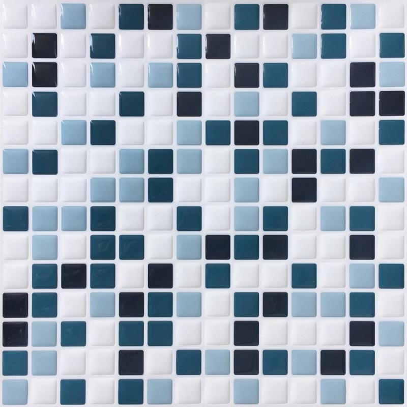 Charmant Hot 3D Mosaik Wand Aufkleber Selbstklebende Entfernbare Unregelmäßigen Fliesen  Backsplash Für Badezimmer Küche Wand Dekor