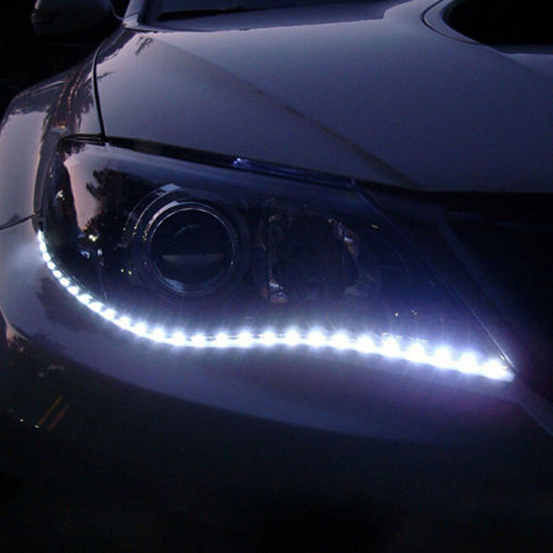 2pcs-30cm-5050-12led-flexible-led-strip-light-waterproof-diy-car-decor-white-decorative-lamp