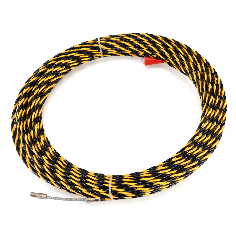Durable 30m Long Wire Fish Tape Dia 6.5mm Nylon Electric Cable Puller Conduit Ducting Snake Cable Rodder Wire GuideDurable 30m Long Wire Fish Tape Dia 6.5mm Nylon Electric Cable Puller Conduit Ducting Snake Cable Rodder Wire Guide