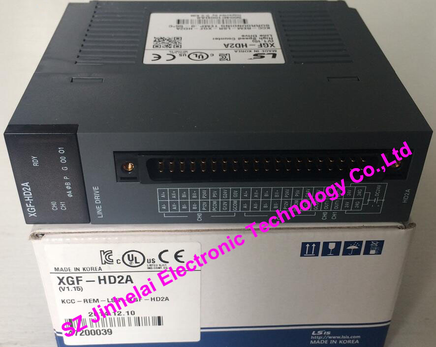 100% New and original XGF-HD2A LS High Speed Count Module, 2 Channel 500kpps,Line Drive Type g4f pp1d ls k300s positioning module 1axis pulse output 1mbps line drive type 1year warranty