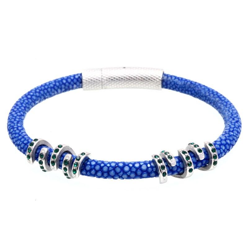 Magic Fish Men bracelet Genuine stingray leather Stainless Steel Magnet button Charm lovers' bracelets&bangle pulseira masculina magic fish bracelets