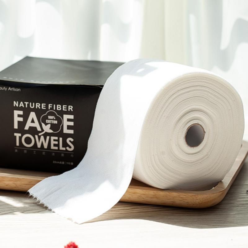 100pcs/set Cotton disposable washing towel non-woven cleansing towel beauty towel cotton pad