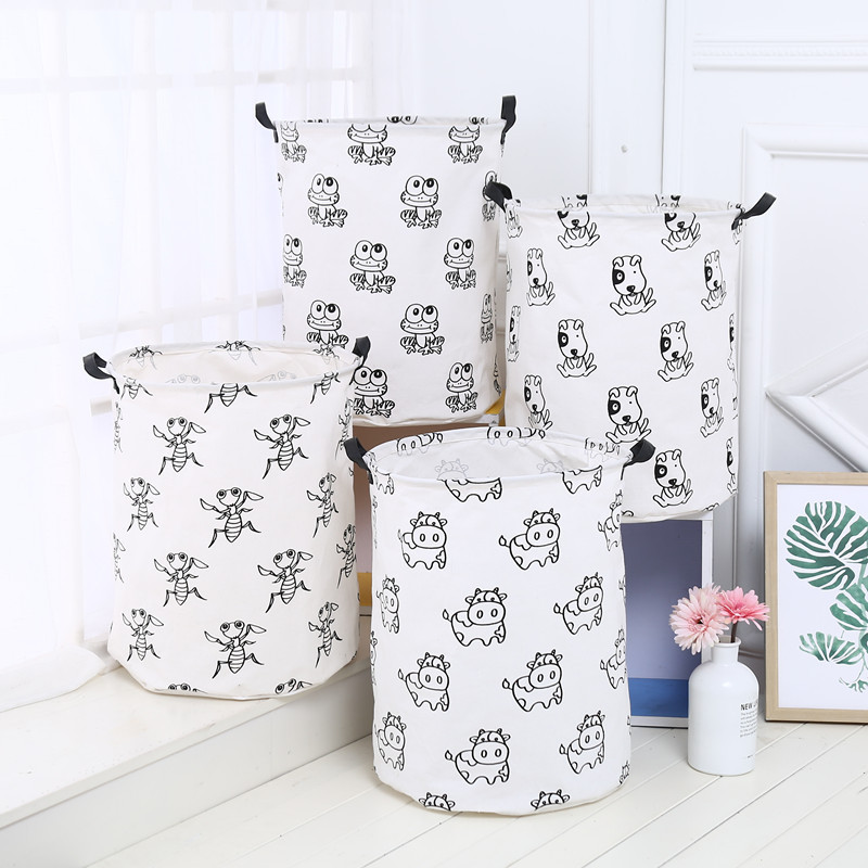 AIYOWEI@YW Desktop Folding Storage Basket Linen Conatiner For Dirty Clothes Sundries High Capacity Toy Makeup Organizer S194