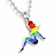 LGBT Pride Rainbow Female shape Pendant Necklace