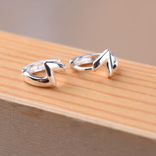 2019 Модные женские серьги Клипсы из стерлингового серебра 925