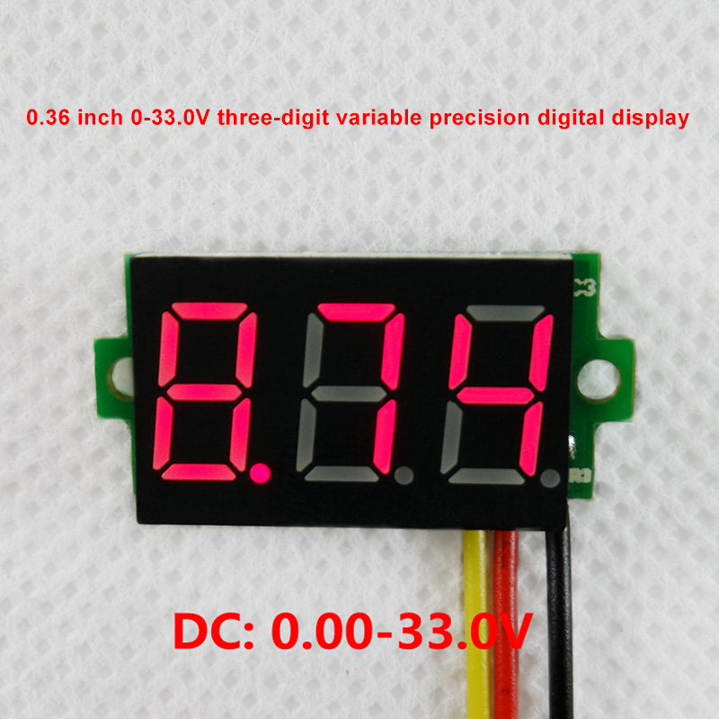 RD 0.36 Inch 0-33V Meter High Precision Wireless Voltage Meter For Car Motorcycle MAL999