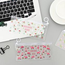 Загадочные маленькие цветы Животные ПВХ водонепроницаемые пеналы канцелярские принадлежности для хранения офисные школьные принадлежнос...