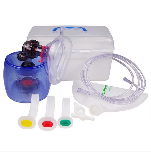 O silicone respirador simples flapper adulto máquina de respiração de resgate médico de emergência ressuscitador manual de ar de respiração