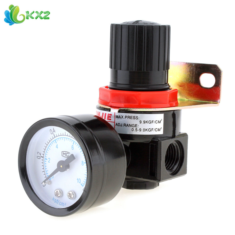 AR2000 0-1.0mpa Mini Adjustable Air Pressure Regulator Air Treatment Units G1/4 Caliber With Gauge & Bracket
