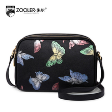ZOOLER Printing Small Bag Female New Spring and Summer 2017 Genuine Leather Shoulder Bag Ladies Butterfly