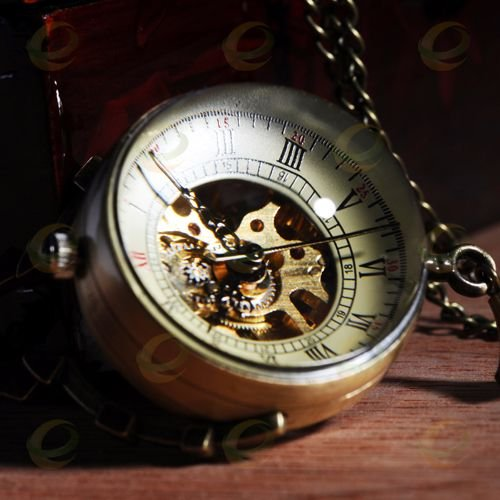 Antique Glass ball Mechanical Pocket Watch Necklace Pendant Watch  Gift sda100 100 free shipping 100mm bore 100mm stroke compact air cylinders sda100x100 dual action air pneumatic cylinder