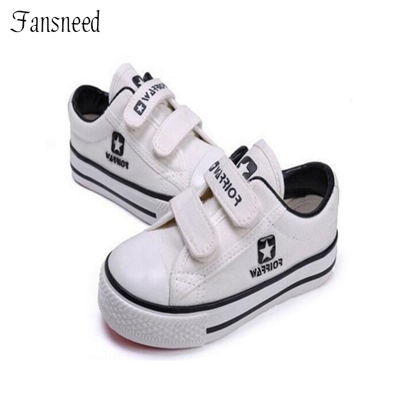 2017children shoes child shoes low-top canvas shoes sneakers male female child sport shoes  black and white