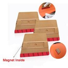 EHDIS 3pcs Vinyl Car Film Wrap Magnet Microfiber Felt Squeegee Carbon Foil Magnetic Sticker Wrapping Scraper Window Tints Tool