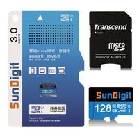 128GB High Quality SunDigit Real Capacity Micro SD Card Class10 SDXC UHS 1 High Speed Up