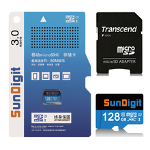 128GB High Quality SunDigit Real Capacity Micro SD card Class10 SDXC UHS-1 High Speed Up to 60MB/s TF Cards 128 GB Memory Card