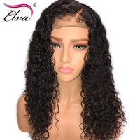 Elva Hair Curly Lace Front Human Hair Wigs Pre Plucked Hairline Brazilian Remy Hair Lace Wig