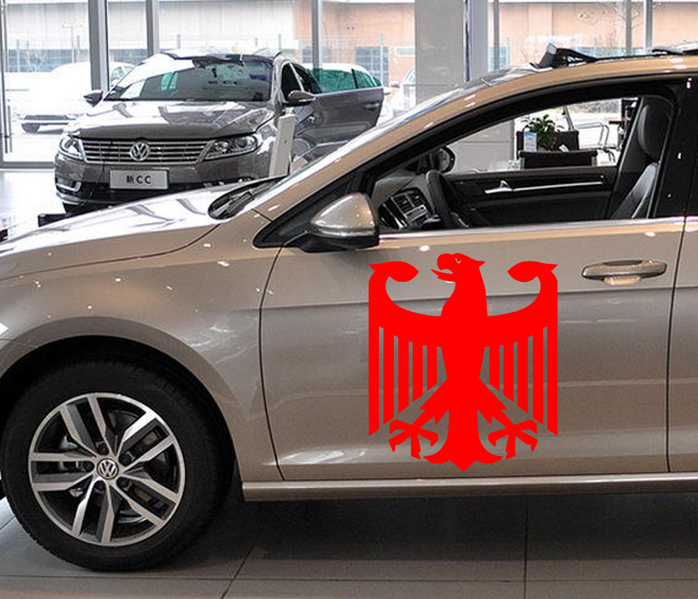 58cm x 49cm 2 x Classic German Eagle Graphic (one For Each Side)Car Sticker For Truck Door Side,Auto Window Vinyl Decal 8 Colors reflective material heart paw vinyl decal car truck sticker laptop boat truck auto bumper wall graphic sticker decoration