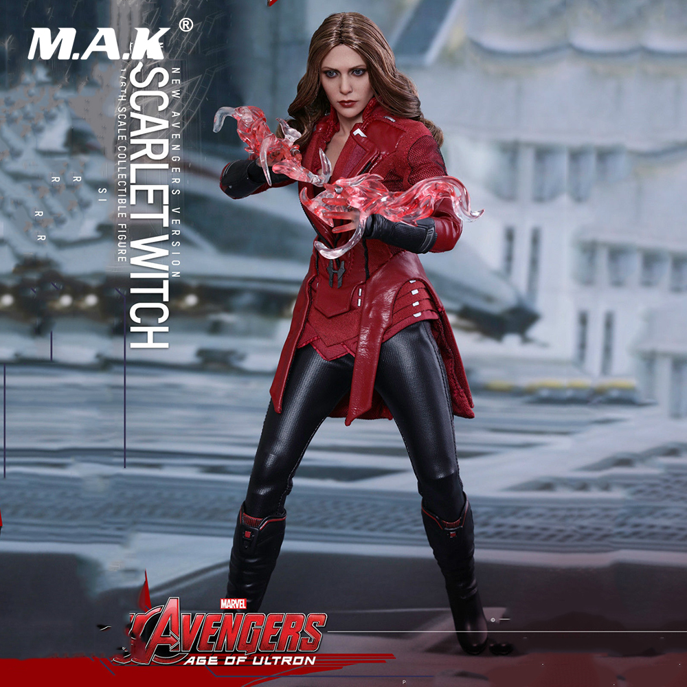 New 1:6 Scale Figure MMS357 Avengers Age of Ultron 1/6th Scarlet Witch Figure Battle Version Full Set Model Toys for Collection 1 6 scale avengers age of ultron wanda scarlet witch full set action figure war version for collections