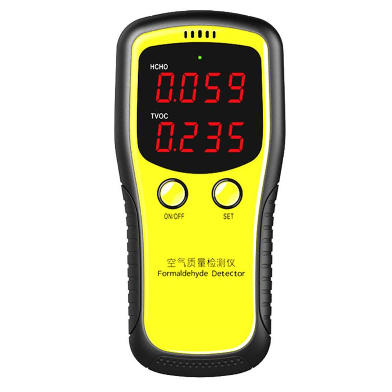 Portable LCD Digital Dioxide Meter CO2 Monitor PM2.5 Indoor Air Quality Formaldehyde Detector