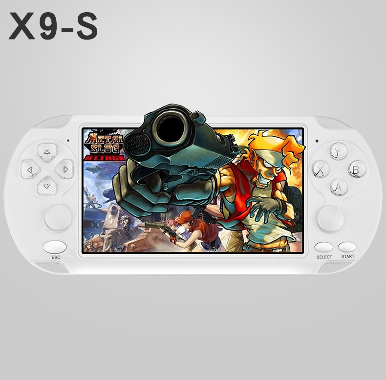 5.1 inch large screen for PSP game camera video MP4 MP5 classic handheld game console support TV video game console image