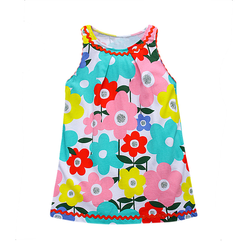 Kids font b Dresses b font for Girls Clothing 100 Cotton Jersey Baby Girls Summer font