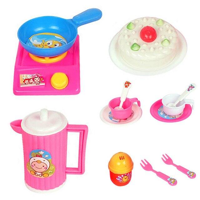 14pcs/set Play House Children Simulational Kitchen Utensils Cake Simulation Toy  Kitchen Kids Kitchen Pretend