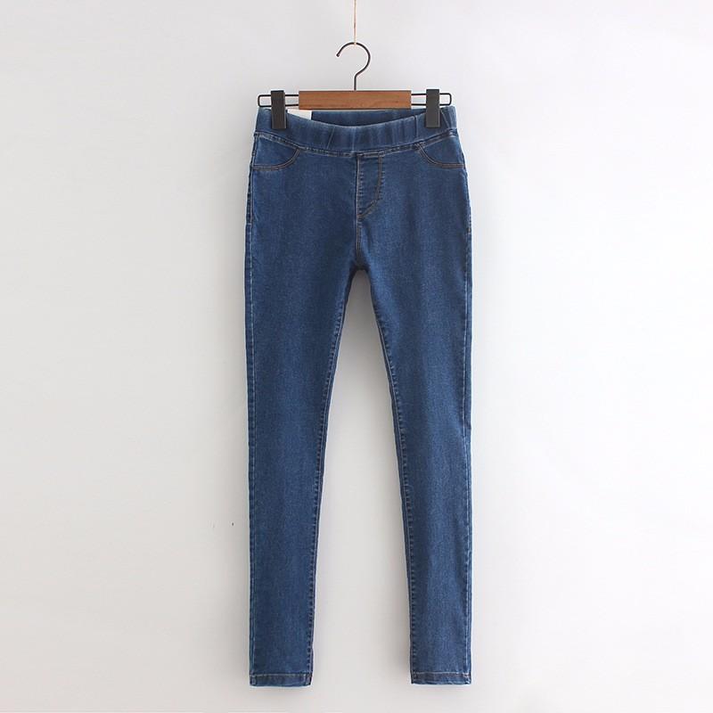 BIVIGAOS Basic Skinny Womens Jeans Ankle Pencil Pants Slim Elastic Denim Pants Jean Leggings Female Cotton Jeggings Jeans Women 52