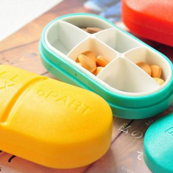 Plastikowy Mini składany pojemnik na pigułki podróżne pojemnik na leki pojemnik na leki pojemnik do przechowywania tanie i dobre opinie HNKMP Przypadki i rozgałęźniki pigułka Plastic pill box Pill Cases Splitters piece