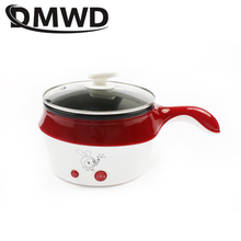 DMWD multifunctional electric Multicookers Hotpot mini noodles cooker non-stick skillet Steamed eggs Soup Cooking pot EU US plug