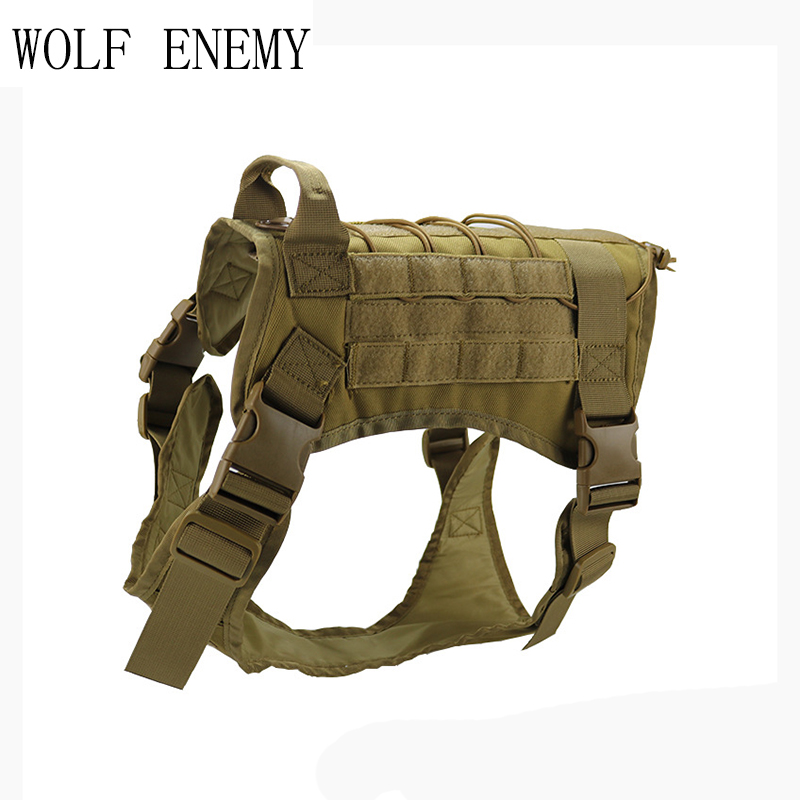 WOLF ENEMY Tactical Pet Dog Clothes Vest Harness Nylon Dog T shirt Outdoor Military Training for Pets Universal