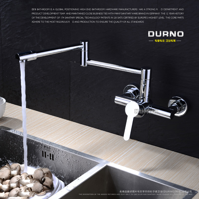 Full Copper Brass wall mounted rotating folding retractable faucet ...