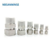 NBSANMINSE 5Pcs/Lot MC G Thread Fractional Inch Pipe Coupling Male Connector Stainless Steel SS316L Plumbing PAir Fitting